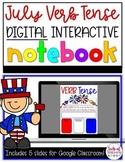 4th of July FREEBIE - Verb Tense Digital Interactive Notebook
