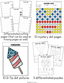 4th of July Fine Motor Practice, Skills and Activities   Independence Day