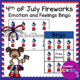 4th of July Firework Emotion and Feeling Bingo