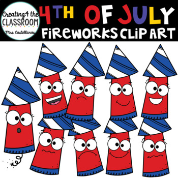 4th of July Fireworks {Emotions Clip Art}