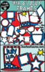 4th of July  Frames Clipart, Holiday Borders