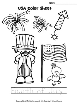 4th of July Fun Worksheets!