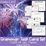 4th of July Grammar Task Cards   Summer School   Independence Day