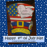 Patriotic Hat Craft, Fourth of July Craft