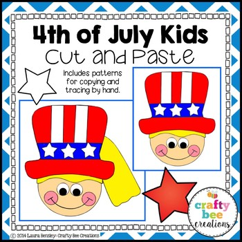 4th of July Kids Cut and Paste