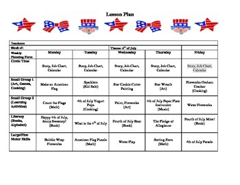 4th of July Lesson Plan
