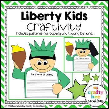 4th of July Liberty Kids Craftivity