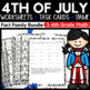 4th of July Math Activity Bundle for 3rd-Grade