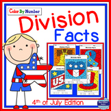4th of July Math: Division Color By Number
