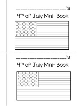 4th of July Mini-Book