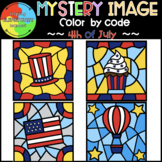 4th of July Mystery Image Progression Color by Code ❤️BUNDLE❤️