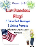 Constitution~4th of July~Paired Text~Writing Prompts~Learning Goals~No Prep!