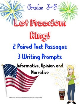 Constitution~4th of July~Paired Text~Writing Prompts~Learn