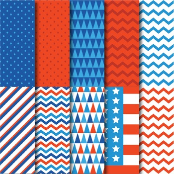 4th of July Papers & Clips