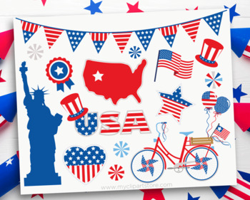 4th of July Parade, Independence Day, USA, Summer, SVG