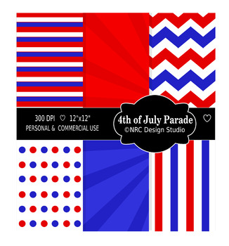 4th of July Parade Paper Pack