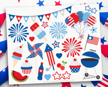 4th of July Party, Independence Day, USA, Summer, SVG