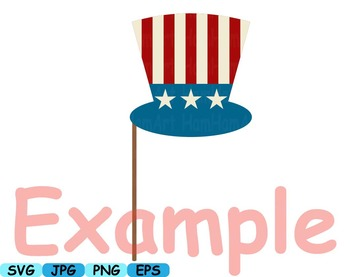 4th of July Party Photo Booth Prop props svg clip art Décor diy patriotic -171s