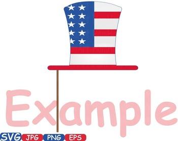 4th of July Party Photo Booth Prop props svg clip art Decor diy patriotic -260s