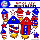 4th of July Patriotic Rockets Clip Art Set - Doodle Patch Designs