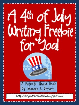 4th of July Patriotic Shape Book