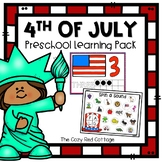 4th of July Preschool Learning Pack