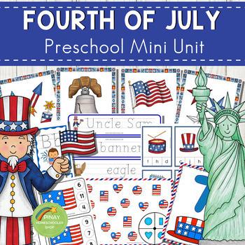 4th of July Preschool Mini Unit Activities