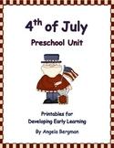 4th of July Preschool Unit