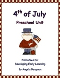 4th of July Preschool Unit