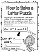 4th of July Puzzler FREEBIE Letter Puzzle