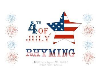 4th of July Rhyming Freebie