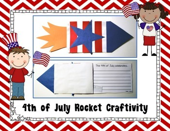 4th of July Rocket Craft {4th of July Writing Prompts}