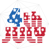4th of July SVG Independence Day Crafters America Flag Files