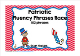 4th of July Sight Word Fluency Phrases Race