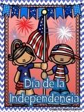 4th of July Spanish/ 4 de julio ¡Lee, Escribe y Aprende!