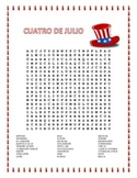 4th of July- Spanish Word Search and Double Puzzle- Dia de la Independencia