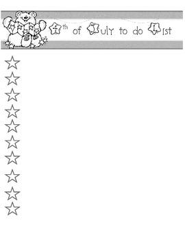 4th of July Stationery {Freebie}
