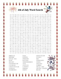 4th of July- Summer Word Search- Harder 30 Words