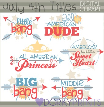 4th of July Titles Clip Art