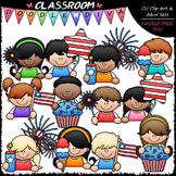 4th of July Topper Kids Clip Art - Patriotic Toppers Clip