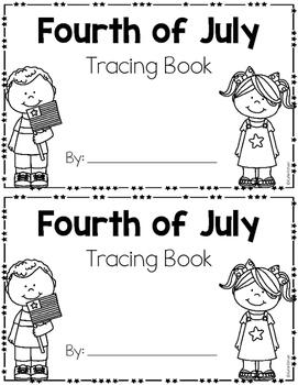 4th of July Tracing Mini-Book