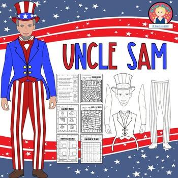 4th of July UNCLE SAM Craftivity {K-1}