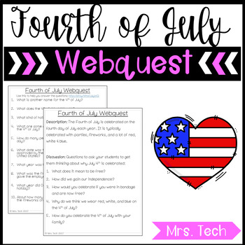 4th of July Webquest