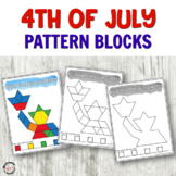 4th of July Wooden Block Cards for Fine Motor Centers