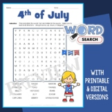 4th of July Word Search 1
