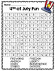 4th of July Word Search
