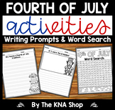 4th of July Writing Prompts & Word Search