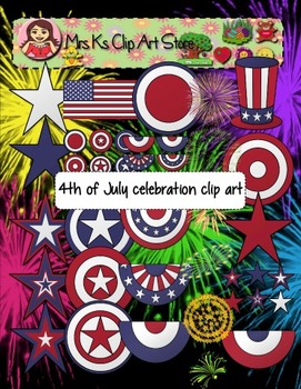 4th of July celebration clip art