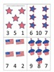 4th of July themed Count and Clip preschool math cards.  Daycare child care math
