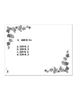 4th or 5th Grade MATH ActivInspire 5 question assessment 4.NBT.B.6 / 4.NBT.6